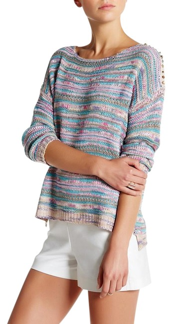 Item - Studded Detail Multicolor Sweater