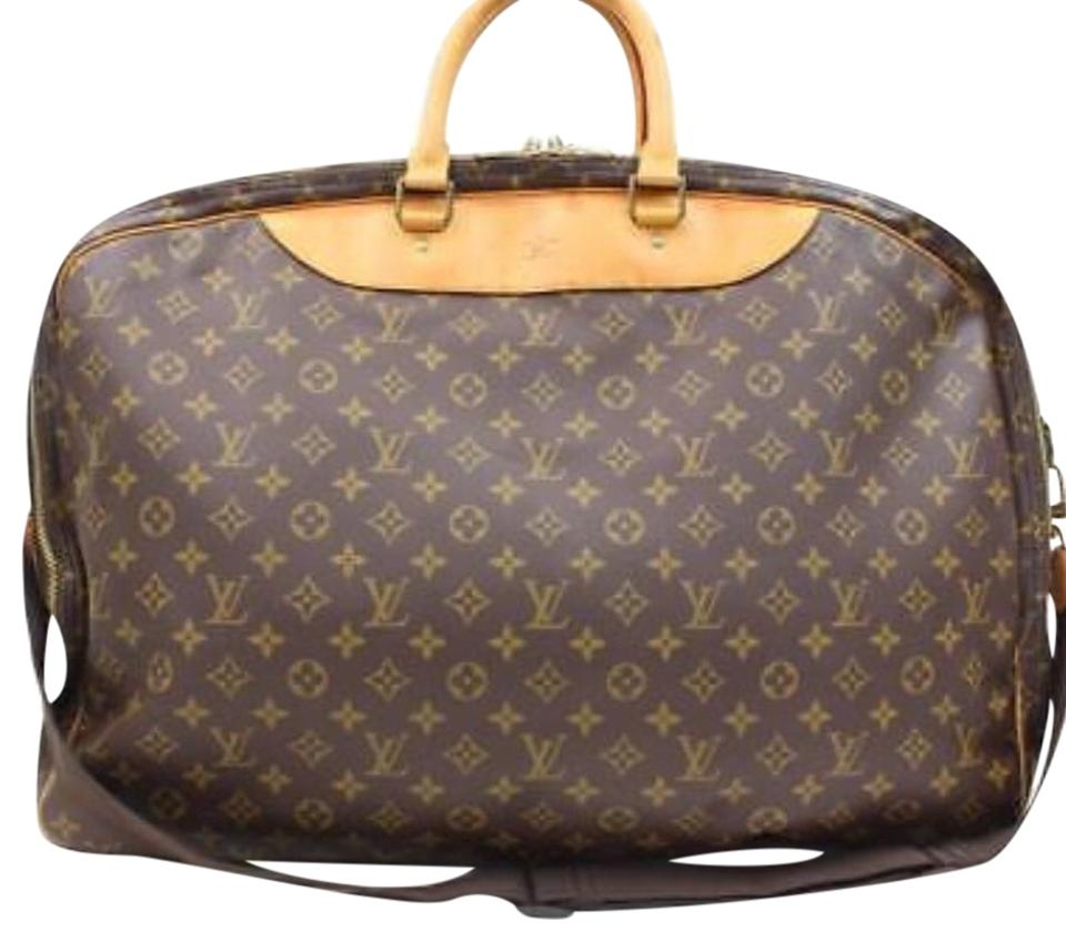Louis Vuitton Alize 2 Pouch Monogram Canvas and Leather Weekend ... 35ad15ff6feeb