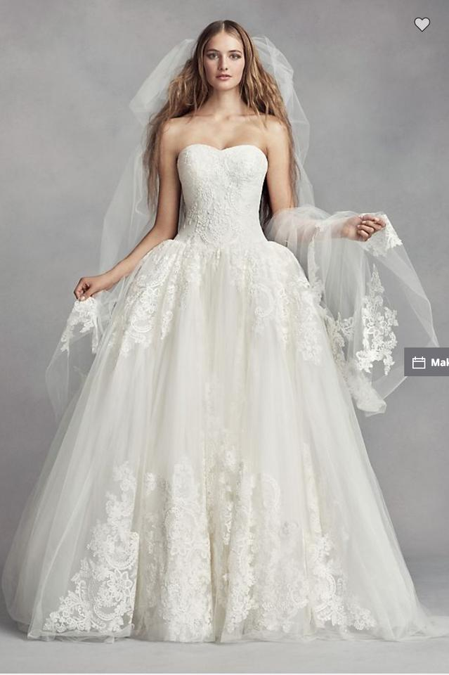 Vera Wang Bridal Ivory Lace and Tulle White By Ball Gown Traditional ...