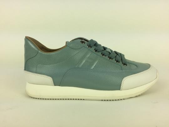 Hermès Ciel Blanc Goal Epson Sport Woman Sneakers Blue & White Athletic Image 3