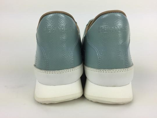 Hermès Ciel Blanc Goal Epson Sport Woman Sneakers Blue & White Athletic Image 4