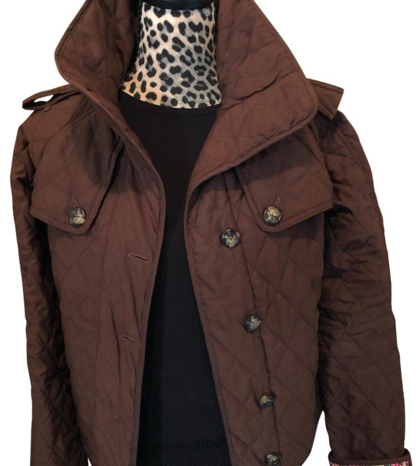 Lilly Pulitzer Brown Quilted Jacket Pea Coat Size 6 (S) - Tradesy : brown quilted coat - Adamdwight.com