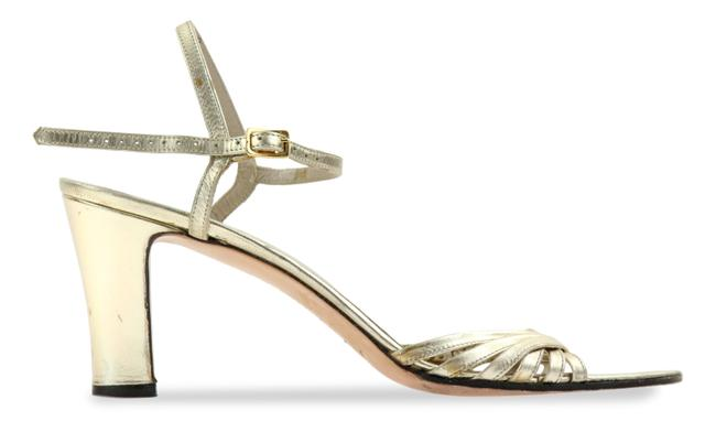 Item - Gold Strappy Leather Sandals Size US 8 Regular (M, B)