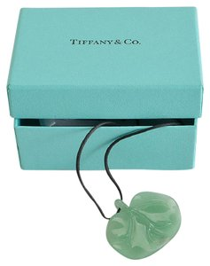 tiffany co tiffany co green aventurine cat island leaf pendant necklace - Tiffany And Co Color Code