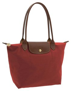 Longchamp Lepliage Tote in Red