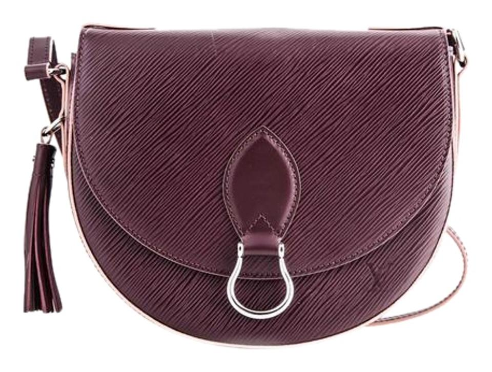 bae1a88e9c9c6 Louis Vuitton Saint Cloud Epi Prune Rose Poudre Purple Leather Cross ...