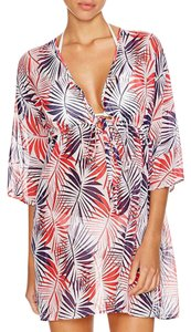 MILLY Milly Cabana Women's Ava palm Print Drawstring Cover-Up Tunic, P/S