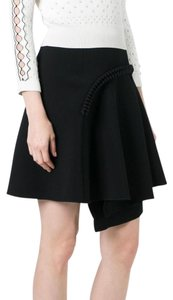 Carven Asymmetric Mini Skirt BLack