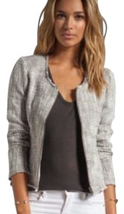 Joie Gray (Steel) and White Jacket