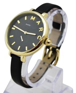 Marc Jacobs New Marc Jacobs MJ1416 Sally Black Golden Dial Black Band Women Watch