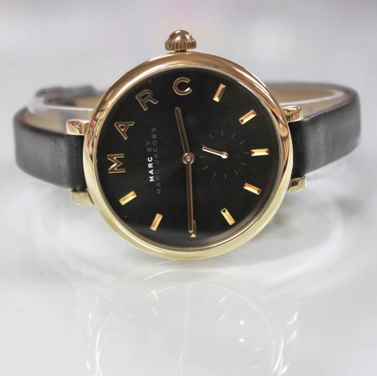 Marc Jacobs New Marc Jacobs MJ1416 Sally Black Golden Dial Black Band Women Watch Image 1