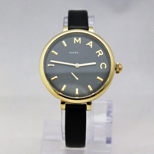 Marc Jacobs New Marc Jacobs MJ1416 Sally Black Golden Dial Black Band Women Watch Image 2