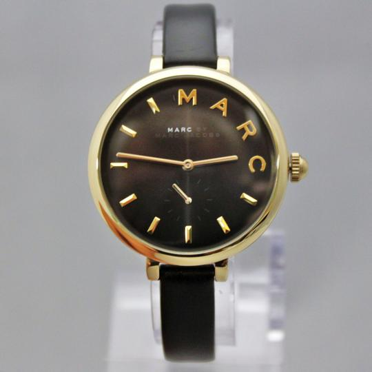 Marc Jacobs New Marc Jacobs MJ1416 Sally Black Golden Dial Black Band Women Watch Image 4