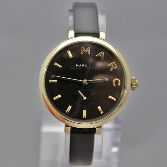 Marc Jacobs New Marc Jacobs MJ1416 Sally Black Golden Dial Black Band Women Watch Image 5