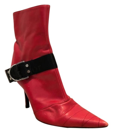 Preload https://img-static.tradesy.com/item/22235416/dior-red-d-ring-pointed-toe-leather-ankle-bootsbooties-size-eu-365-approx-us-65-regular-m-b-0-1-540-540.jpg