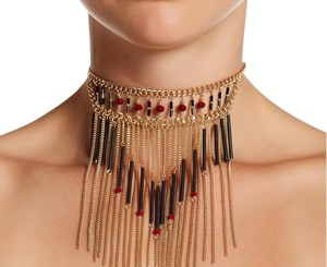 Free Press New With Tags FREE PRESS Beaded Ladder Fringe Choker