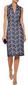 Navy and White Maxi Dress by Alice + Olivia Floral Lace