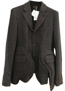 COMME des GARONS Jacket Padded Pockets Metallic Wool Black Metallic Black Blazer