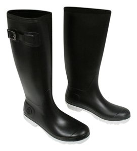 Moncler Hermine Rubber New Black Boots