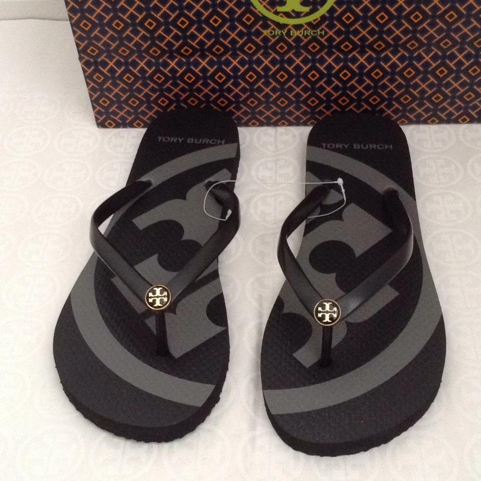 4b16d51a8e3f5f Tory Burch Black Flip Flops New with Gift Bag Sandals. Size  US 10 ...