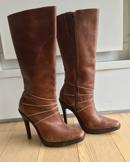 Steve Madden Leather Brown Boots Image 11