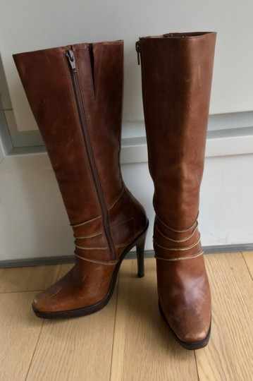 Steve Madden Leather Brown Boots Image 2
