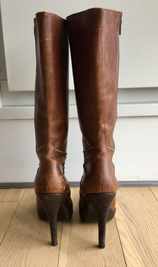 Steve Madden Leather Brown Boots Image 3
