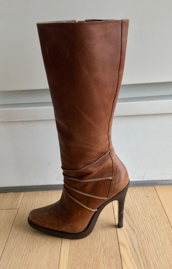 Steve Madden Leather Brown Boots Image 4