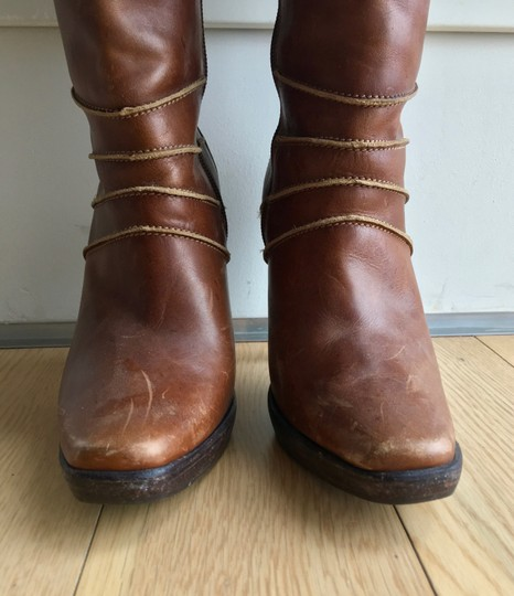 Steve Madden Leather Brown Boots Image 7