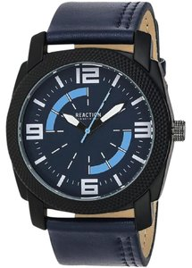 Kenneth Cole 10030586 Men's Blue Leather Band With Blue Analog Dial Watch
