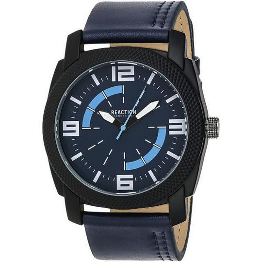 Kenneth Cole 10030586 Men's Blue Leather Band With Blue Analog Dial Watch Image 1