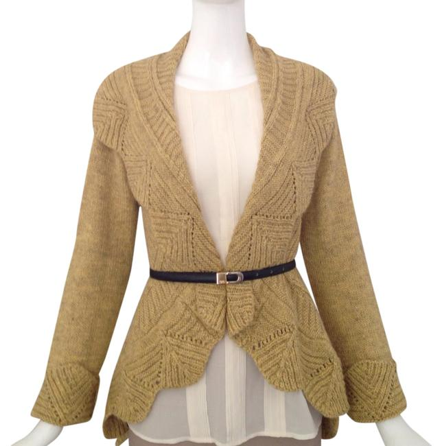 Item - Yellow Gold Open Front Cardigan Size 8 (M)