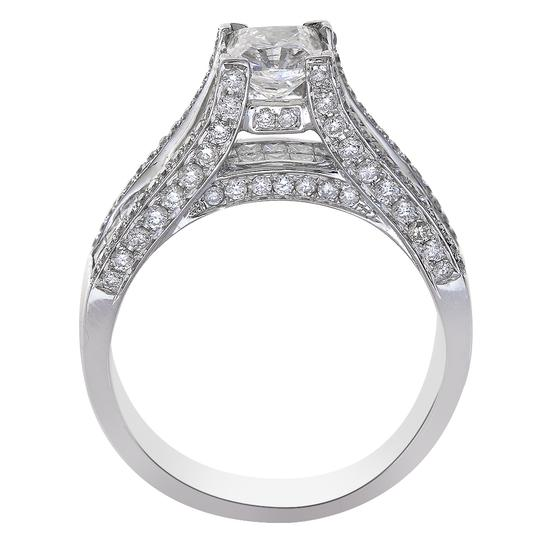 Avital & Co Jewelry White 2.02 Carat Cushion Cut Diamond 14k Gold Engagement Ring Image 2