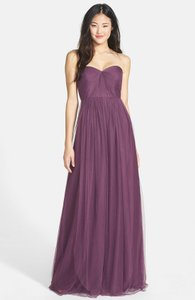 Jenny Yoo Raisin Tulle Annabelle Convertible Column Formal Bridesmaid/Mob Dress Size 12 (L)