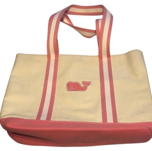 Vineyard Vines Tote in pink and cream