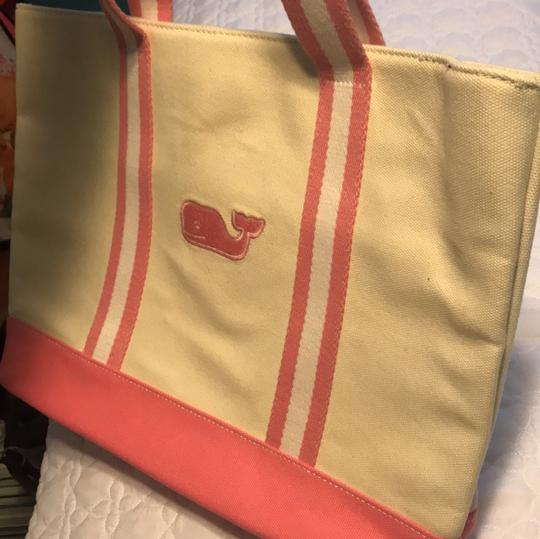 Vineyard Vines Tote in pink and cream Image 1