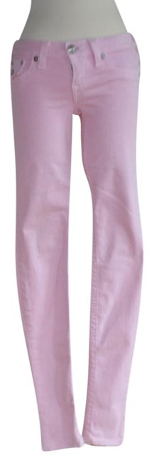 Item - Pink Light Wash Super Stretchy Small Skinny Jeans Size 27 (4, S)