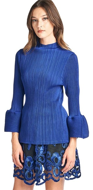 Preload https://img-static.tradesy.com/item/22236281/blue-louna-pleated-bell-sleeve-blouse-size-os-one-size-0-2-650-650.jpg