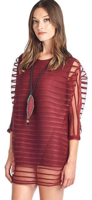 Preload https://img-static.tradesy.com/item/22236349/burgundy-claudia-pleated-blouse-tunic-size-os-one-size-0-1-650-650.jpg