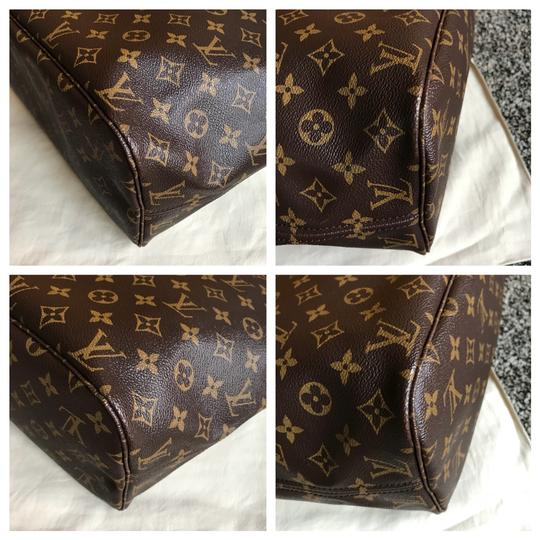 louis vuitton brown cerise interior monogram canvas leather neverfull mm tote tradesy. Black Bedroom Furniture Sets. Home Design Ideas