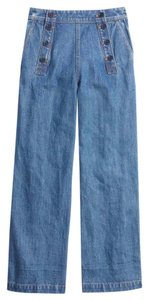 Madewell Trouser/Wide Leg Jeans-Medium Wash
