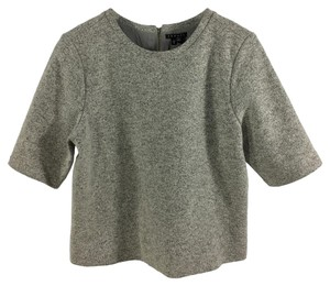 Theory Wool Winter Fall Casual Crop Top GREY