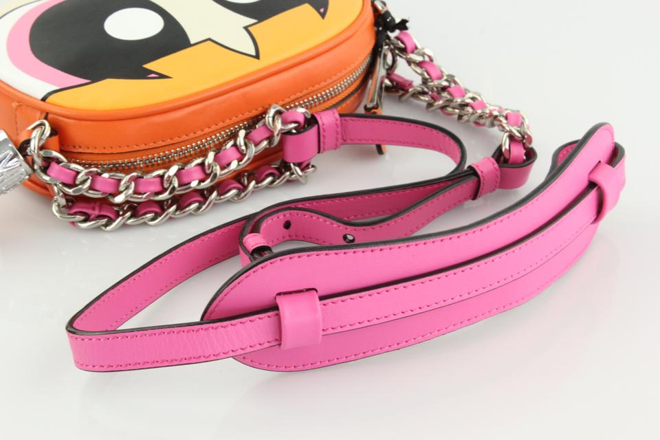 a1a6ef6b74 Moschino Powerpuff Girls Blossom Canteen Pink/Multi Leather Cross ...