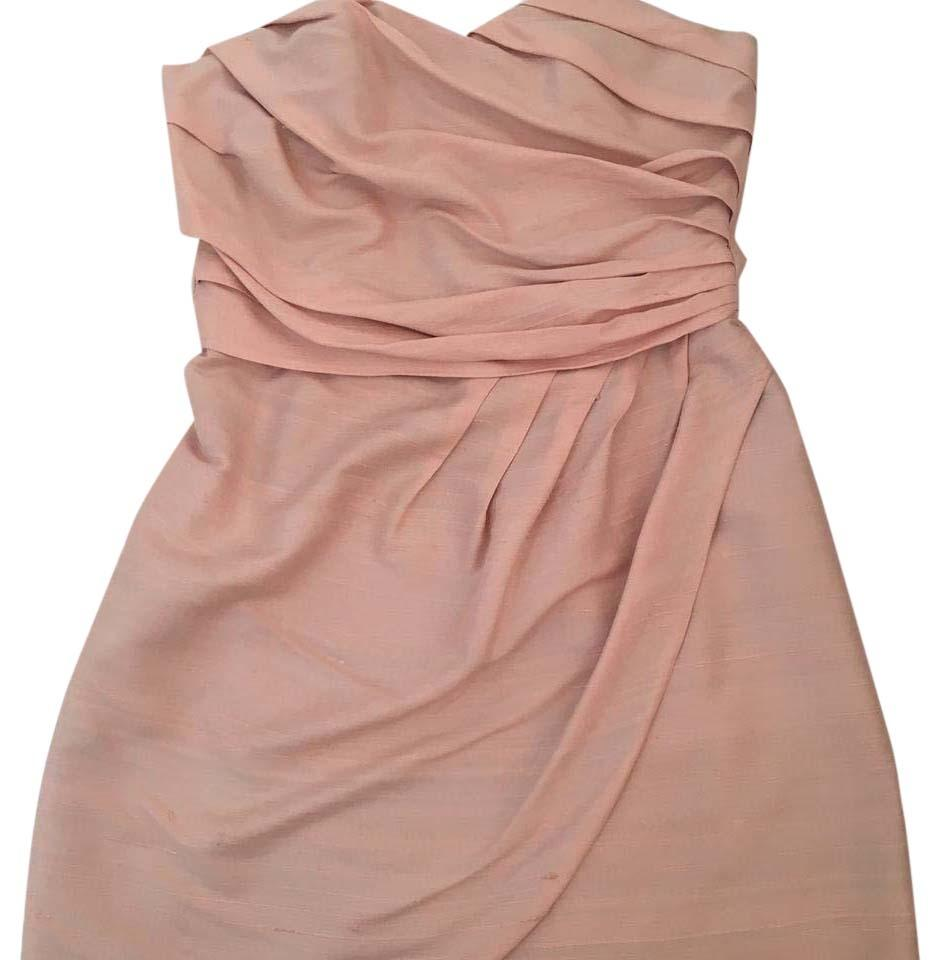 Leyendecker Blush/Light Pink Strapless Short Cocktail Dress Size 4 ...