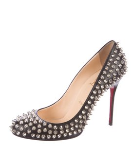 Christian Louboutin Spike Studded Simple Filo Silver Hardware Black, Silver Pumps
