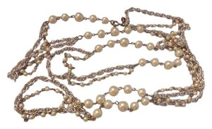 Sarah Coventry Vintage Long Necklace w Pearls