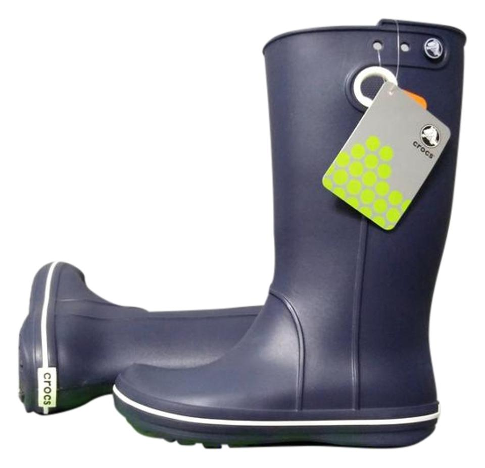 Image result for crocs navy blue boots