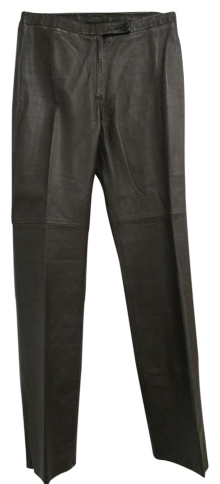 283c01503d488 BCBGMAXAZRIA Sable Bcbg Max Azria Brown Leather Leg - New - 0 Pants ...
