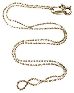 """Tiffany & Co. Sterling Silver Bead Ball Chain Necklace 16"""""""