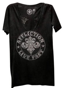 Affliction Rhinestone T Shirt Black